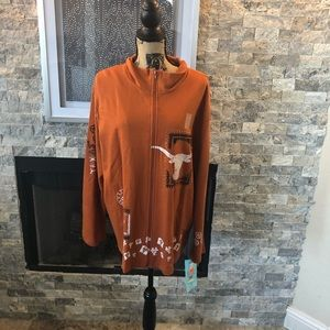 NWT The University of Texas zip front jacket
